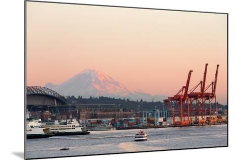 The Port of Seattle.-Jon Hicks-Mounted Photographic Print
