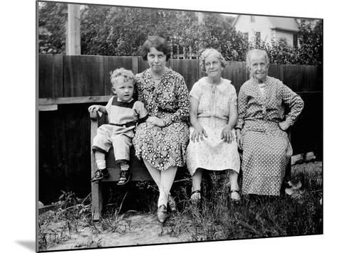 Four Generations Sit for a Portrait, Ca. 1928.-Kirn Vintage Stock-Mounted Photographic Print