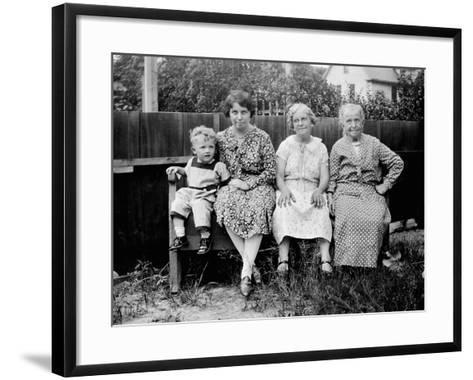 Four Generations Sit for a Portrait, Ca. 1928.-Kirn Vintage Stock-Framed Art Print