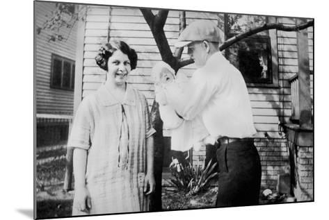 Proud Parents Hold their Two Month Old Baby, Ca.1926.-Kirn Vintage Stock-Mounted Photographic Print