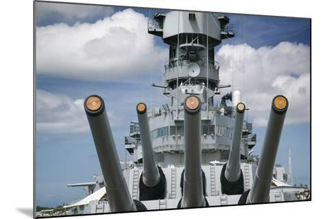 Gun Turret on the Battleship Missouri-Jon Hicks-Mounted Photographic Print