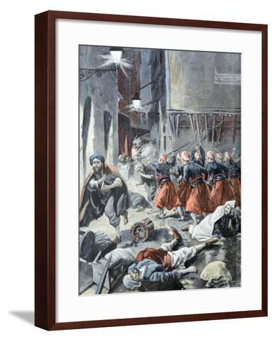 Rebellion in Algiers Algeria 1898-Chris Hellier-Framed Art Print