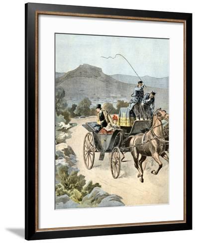 Assassination Attempt on King George I of Greece 1898-Chris Hellier-Framed Art Print