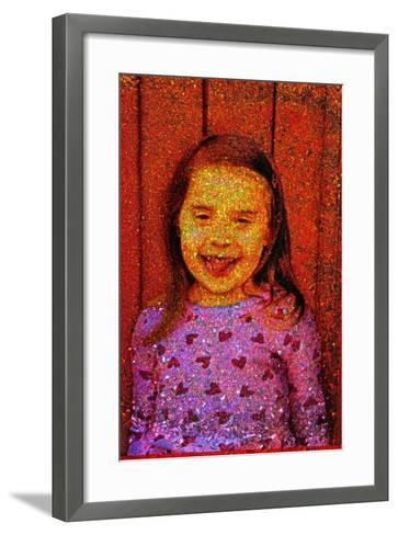 Little Girl Laughing.-Andr? Burian-Framed Art Print