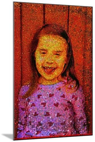 Little Girl Laughing.-Andr? Burian-Mounted Photographic Print