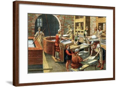 A Papermaking Workshop--Framed Art Print