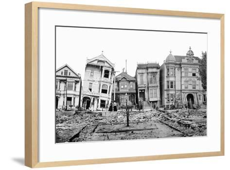 Personal Snapshot of Immediate Post-Earthquake San Francisco in 1906.-Kirn Vintage Stock-Framed Art Print