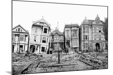 Personal Snapshot of Immediate Post-Earthquake San Francisco in 1906.-Kirn Vintage Stock-Mounted Photographic Print