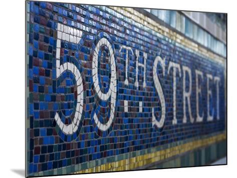 59Th Street Subway Station Sign.-Jon Hicks-Mounted Photographic Print