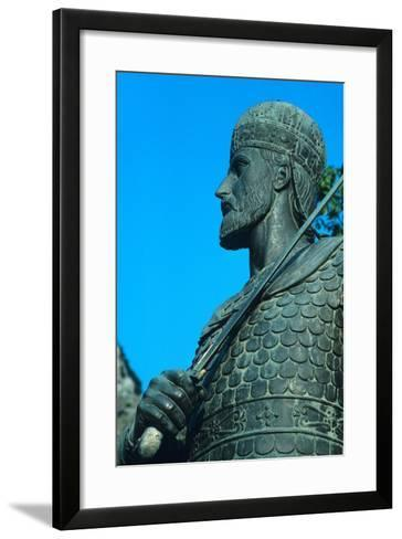 Detail of Statue of Constantine XI Palaiologos-Chris Hellier-Framed Art Print