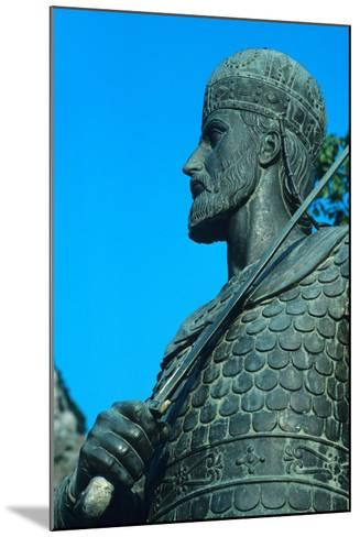 Detail of Statue of Constantine XI Palaiologos-Chris Hellier-Mounted Photographic Print