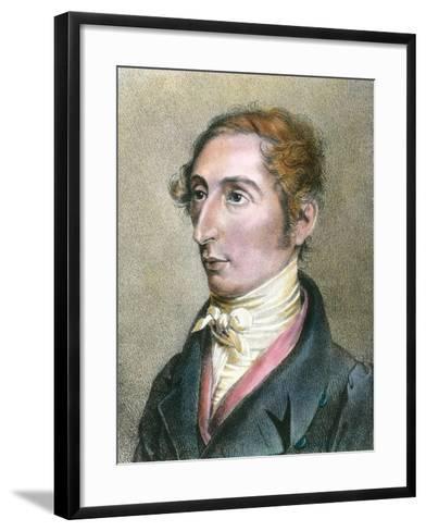 Portrait of German Composer Carl Maria Von Weber--Framed Art Print