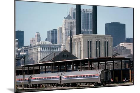Amtrak Train in Railway Sidings, Chicago Union Station, Illinois, Usa, 1979-Alain Le Garsmeur-Mounted Photographic Print