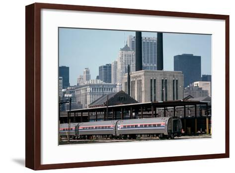 Amtrak Train in Railway Sidings, Chicago Union Station, Illinois, Usa, 1979-Alain Le Garsmeur-Framed Art Print