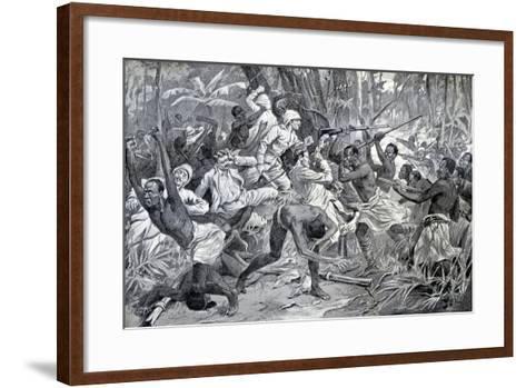 Colonial Struggle in Benin 1897-Chris Hellier-Framed Art Print