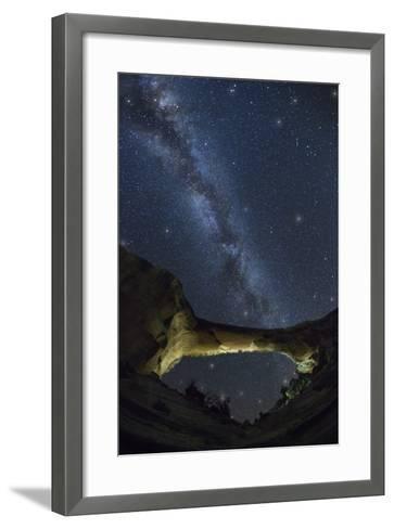Natural Bridges National Monument at Night-Jon Hicks-Framed Art Print
