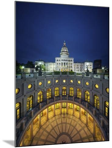 The Texas State Capitol Building in Austin, Texas.-Jon Hicks-Mounted Photographic Print