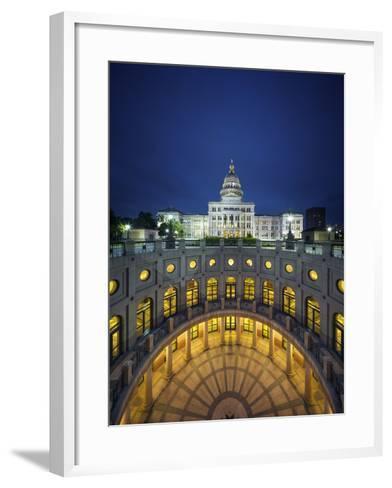 The Texas State Capitol Building in Austin, Texas.-Jon Hicks-Framed Art Print