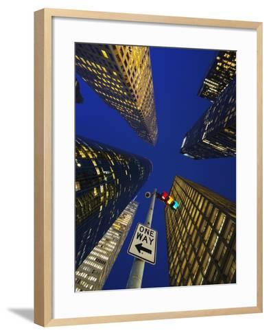 Downtown Houston.-Jon Hicks-Framed Art Print