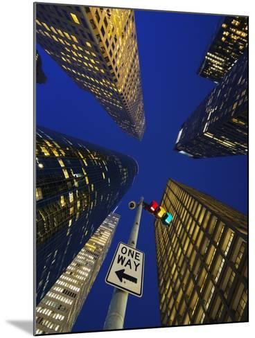Downtown Houston.-Jon Hicks-Mounted Photographic Print