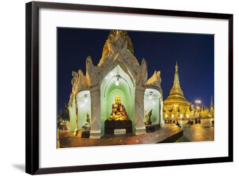 Shwedagon Paya at Dusk-Jon Hicks-Framed Art Print
