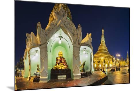 Shwedagon Paya at Dusk-Jon Hicks-Mounted Photographic Print