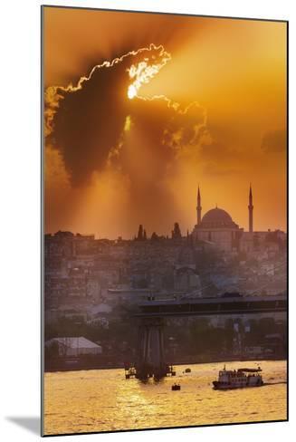 Sunset over the Bosphorus Strait.-Jon Hicks-Mounted Photographic Print