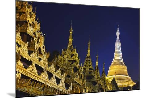 Shwedagon Paya at Night-Jon Hicks-Mounted Photographic Print