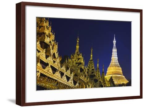 Shwedagon Paya at Night-Jon Hicks-Framed Art Print