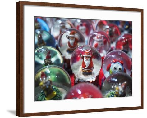 Snow Globes for Sale in the Verona Christmas Market, Italy.-Jon Hicks-Framed Art Print