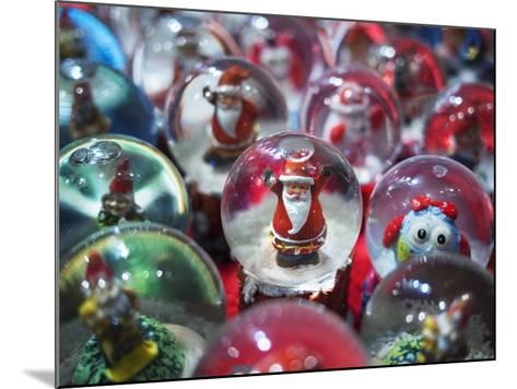 Snow Globes for Sale in the Verona Christmas Market, Italy.-Jon Hicks-Mounted Photographic Print