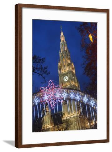 The Viennese Christmas Market, Vienna, Austria.-Jon Hicks-Framed Art Print