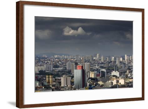 Sao Paulo Skyline, Brazil.-Jon Hicks-Framed Art Print