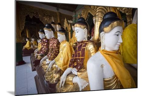 Buddhas at Shwedagon Pagoda in Yangon, Myanmar (Burma)-John and Lisa Merrill-Mounted Photographic Print