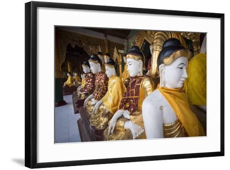 Buddhas at Shwedagon Pagoda in Yangon, Myanmar (Burma)-John and Lisa Merrill-Framed Art Print