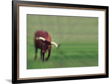 Charging Bull-DLILLC-Framed Art Print