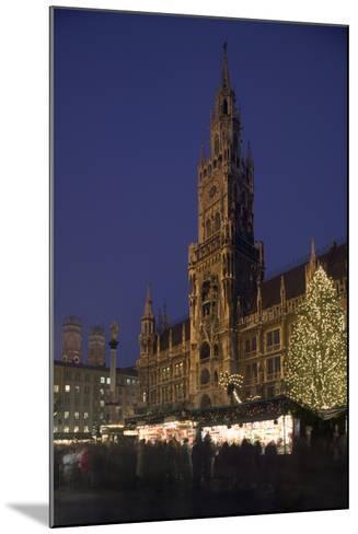 Christmas Tree in Marienplatz in Munich-Jon Hicks-Mounted Photographic Print