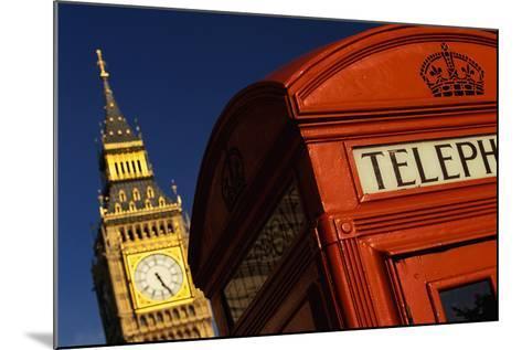Big Ben and Telephone Booth-Jon Hicks-Mounted Photographic Print
