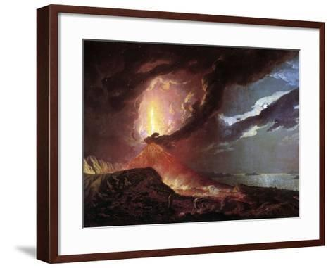 Vesuvius in Eruption, 1776 by Joseph Wright of Derby--Framed Art Print