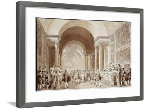 View of the Wedding Procession of Napoleon and Marie Louise--Framed Art Print