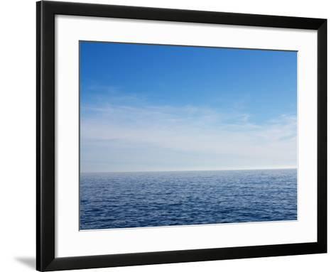 Blue Sky over Calm Sea-Norbert Schaefer-Framed Art Print