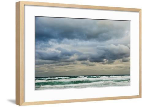 Clouds over Rough Sea-Norbert Schaefer-Framed Art Print