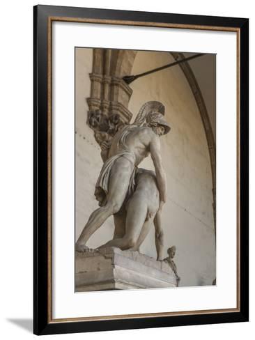 Piazza Signoria, Loggia Dei Lanzi, Patroclo E Menelao-Guido Cozzi-Framed Art Print