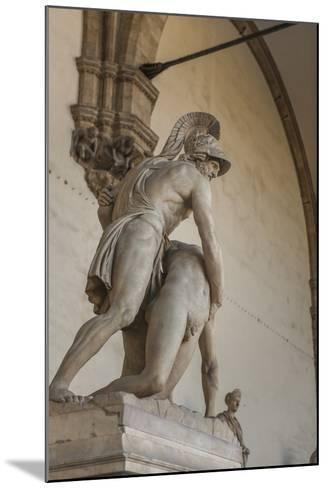 Piazza Signoria, Loggia Dei Lanzi, Patroclo E Menelao-Guido Cozzi-Mounted Photographic Print