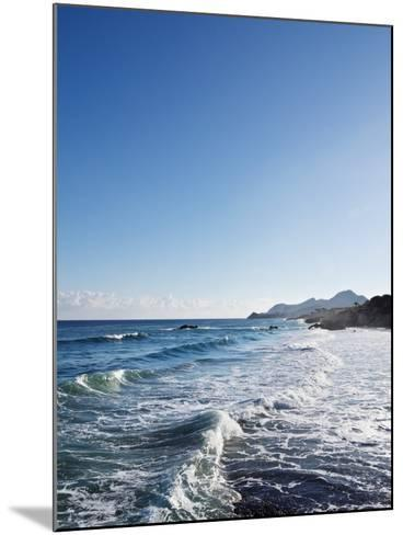 Blue Sky above Sea with Some Waves-Norbert Schaefer-Mounted Photographic Print