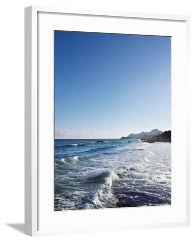 Blue Sky above Sea with Some Waves-Norbert Schaefer-Framed Art Print