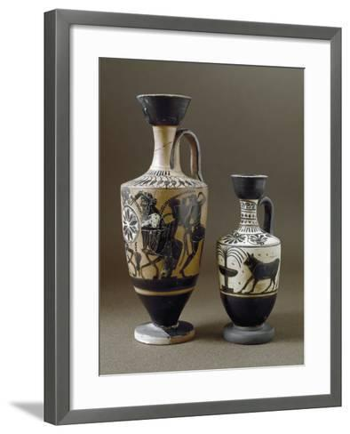 Greek Art : Black-Figure Ceramic Vases--Framed Art Print