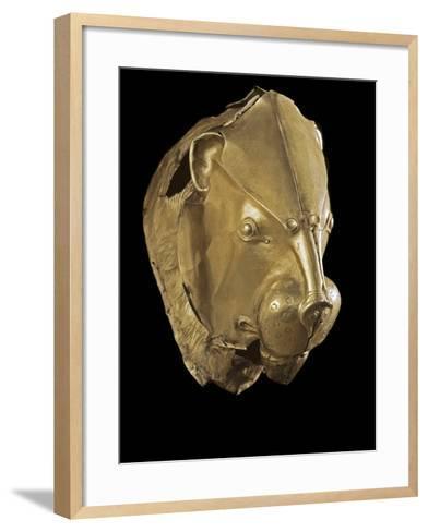 Mycenaean Art : Gold Lion's Head Rhyton--Framed Art Print