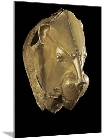 Mycenaean Art : Gold Lion's Head Rhyton--Mounted Photographic Print