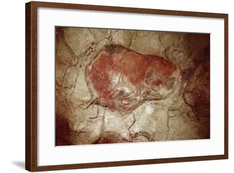 Prehistory : Bison at Rest--Framed Art Print